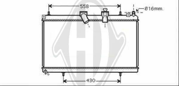 Radiateur, refroidissement du moteur - Diederichs Germany - 8424310