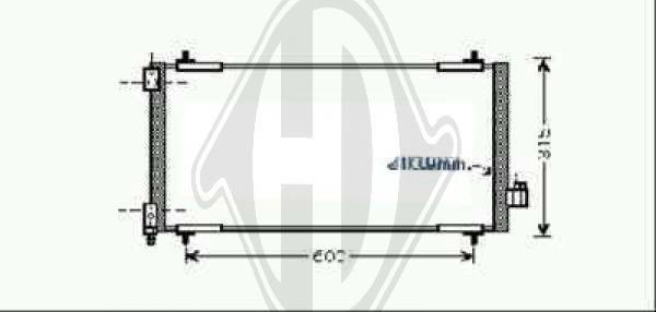 Condenseur, climatisation - Diederichs Germany - 8424311
