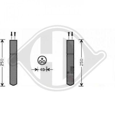 Filtre déshydratant, climatisation - Diederichs Germany - 8424312
