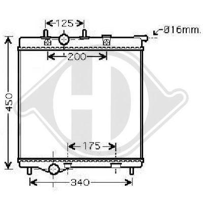 Radiateur, refroidissement du moteur - Diederichs Germany - 8424314