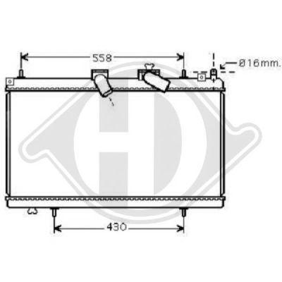 Radiateur, refroidissement du moteur - Diederichs Germany - 8424315