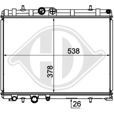 Radiateur, refroidissement du moteur - Diederichs Germany - 8424316