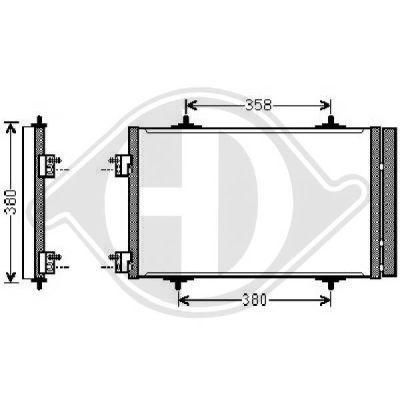 Condenseur, climatisation - Diederichs Germany - 8424400