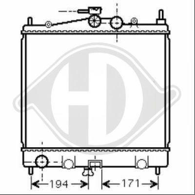 Radiateur, refroidissement du moteur - Diederichs Germany - 8440505