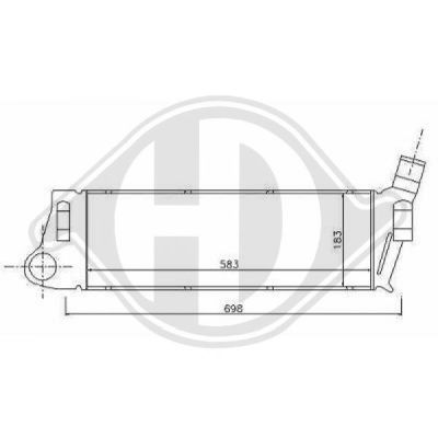Intercooler, échangeur - Diederichs Germany - 8440507