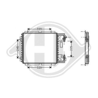 Condenseur, climatisation - Diederichs Germany - 8441200