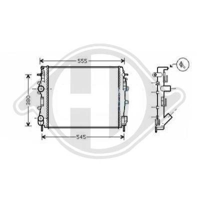 Radiateur, refroidissement du moteur - Diederichs Germany - 8441266