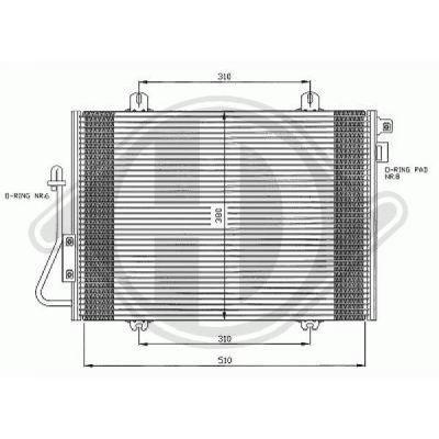Condenseur, climatisation - Diederichs Germany - 8441300