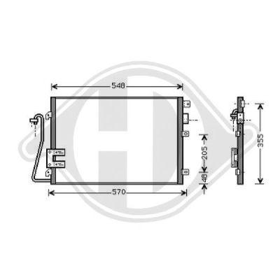 Condenseur, climatisation - Diederichs Germany - 8441301