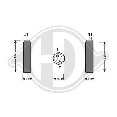 Filtre déshydratant, climatisation - HDK-Germany - 77HDK8441302