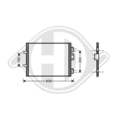 Condenseur, climatisation - Diederichs Germany - 8441303
