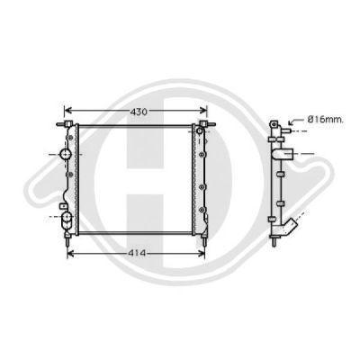 Radiateur, refroidissement du moteur - Diederichs Germany - 8441306