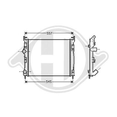 Radiateur, refroidissement du moteur - Diederichs Germany - 8441307