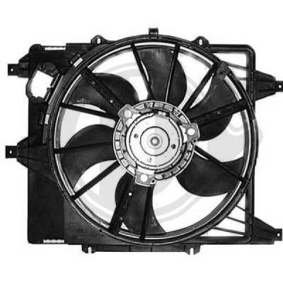 Ventilateur, refroidissement du moteur - Diederichs Germany - 8441308
