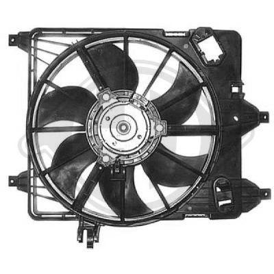 Ventilateur, refroidissement du moteur - Diederichs Germany - 8441311