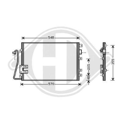 Condenseur, climatisation - Diederichs Germany - 8441360