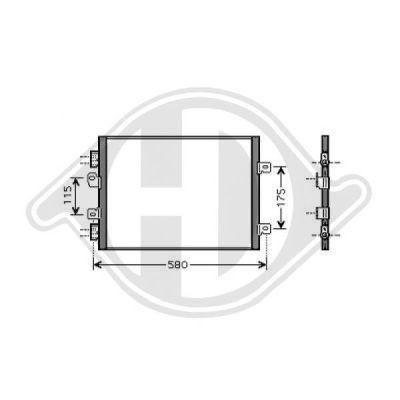Condenseur, climatisation - Diederichs Germany - 8441361