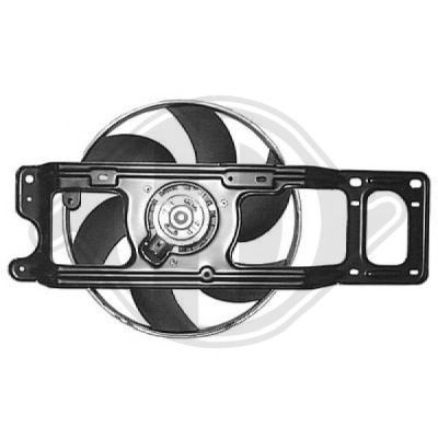 Ventilateur, refroidissement du moteur - Diederichs Germany - 8441362