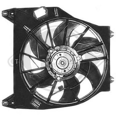 Ventilateur, refroidissement du moteur - Diederichs Germany - 8441364
