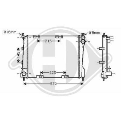 Radiateur, refroidissement du moteur - HDK-Germany - 77HDK8441401