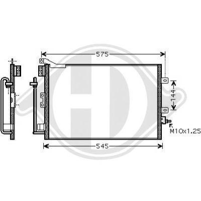 Condenseur, climatisation - Diederichs Germany - 8441404