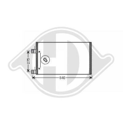 Condenseur, climatisation - Diederichs Germany - 8441460