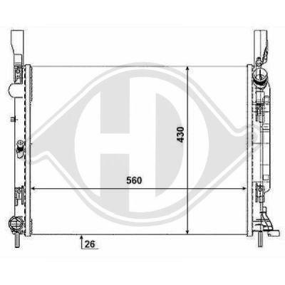 Radiateur, refroidissement du moteur - HDK-Germany - 77HDK8441465
