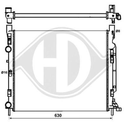 Radiateur, refroidissement du moteur - Diederichs Germany - 8441467