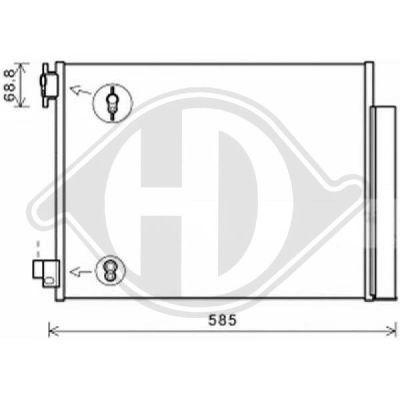 Condenseur, climatisation - Diederichs Germany - 8441600