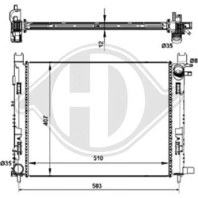 Condenseur, climatisation - Diederichs Germany - 8441605