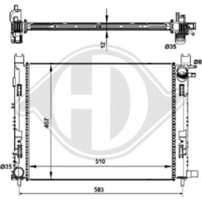Condenseur, climatisation - HDK-Germany - 77HDK8441605