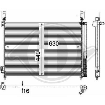 Condenseur, climatisation - Diederichs Germany - 8444500