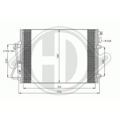 Condenseur, climatisation - Diederichs Germany - 8445500