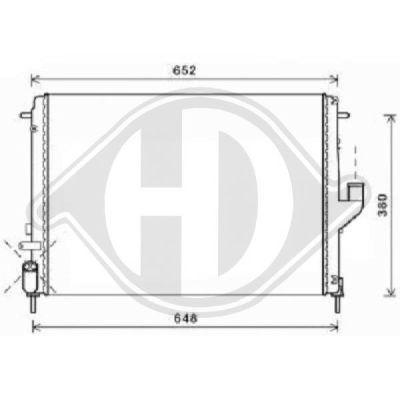 Radiateur, refroidissement du moteur - HDK-Germany - 77HDK8445506