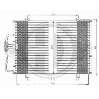 Condenseur, climatisation - Diederichs Germany - 8446200