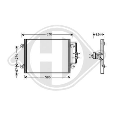 Condenseur, climatisation - Diederichs Germany - 8446201