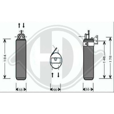 Filtre déshydratant, climatisation - Diederichs Germany - 8446202
