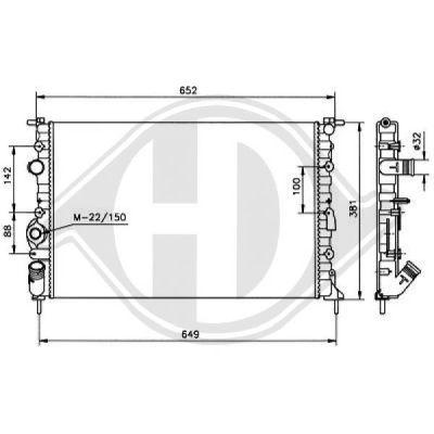 Radiateur, refroidissement du moteur - Diederichs Germany - 8446205