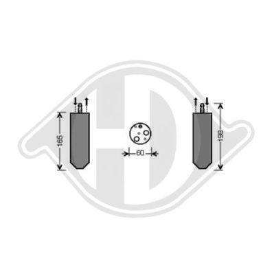 Filtre déshydratant, climatisation - Diederichs Germany - 8446302