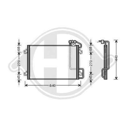 Condenseur, climatisation - Diederichs Germany - 8446340