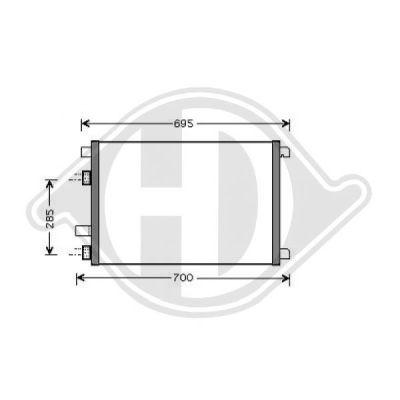 Condenseur, climatisation - Diederichs Germany - 8446400