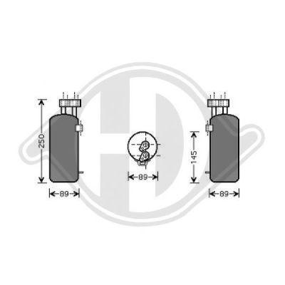 Filtre déshydratant, climatisation - HDK-Germany - 77HDK8446401