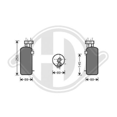 Filtre déshydratant, climatisation - Diederichs Germany - 8446401