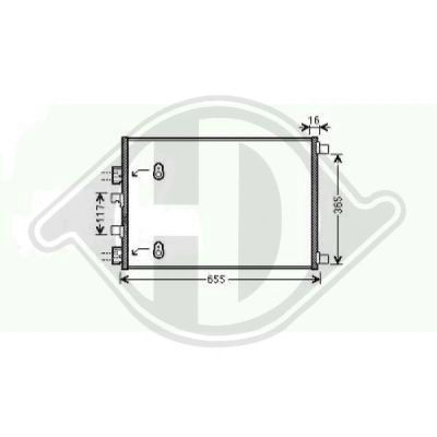 Condenseur, climatisation - Diederichs Germany - 8446402