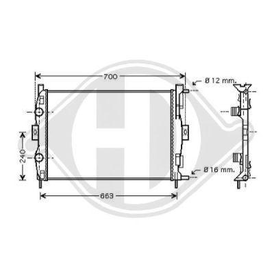 Radiateur, refroidissement du moteur - Diederichs Germany - 8446405