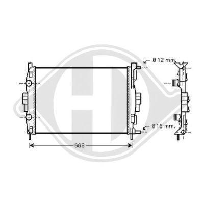 Radiateur, refroidissement du moteur - Diederichs Germany - 8446406
