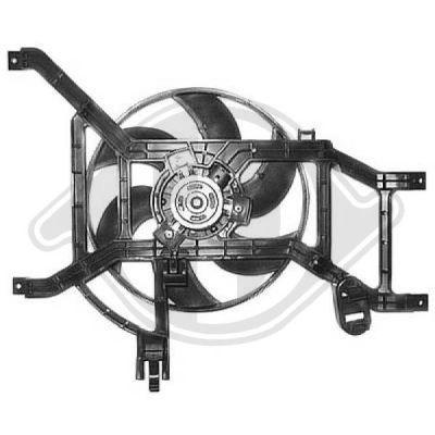 Ventilateur, refroidissement du moteur - Diederichs Germany - 8446408