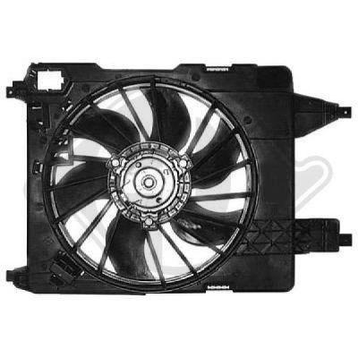 Ventilateur, refroidissement du moteur - Diederichs Germany - 8446409