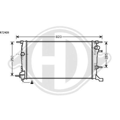 Radiateur, refroidissement du moteur - Diederichs Germany - 8446502