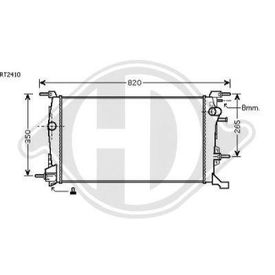 Radiateur, refroidissement du moteur - Diederichs Germany - 8446503